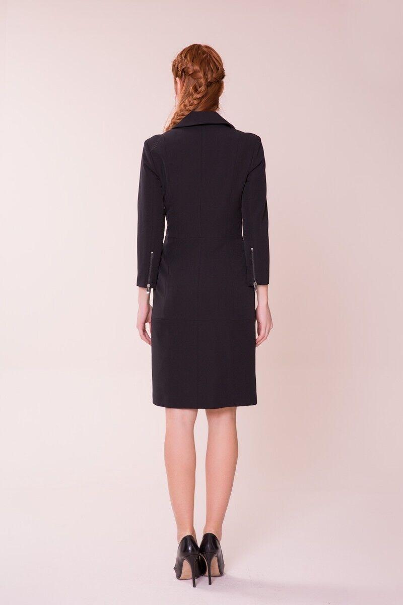 Fırfır Detaylı Siyah Elbise