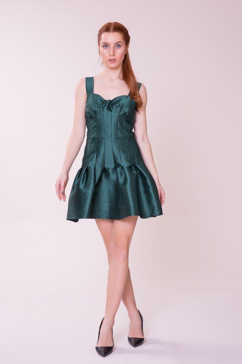 Etek Ucu Detaylı Mini Elbise