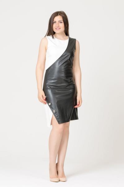 GIZIA CASUAL - İki Renk Mini Elbise
