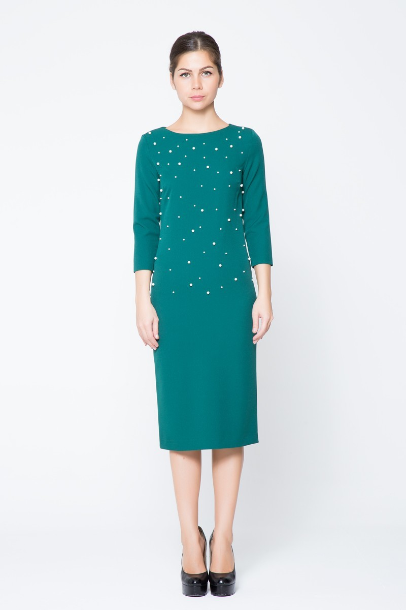İnci Detaylı Mini Elbise