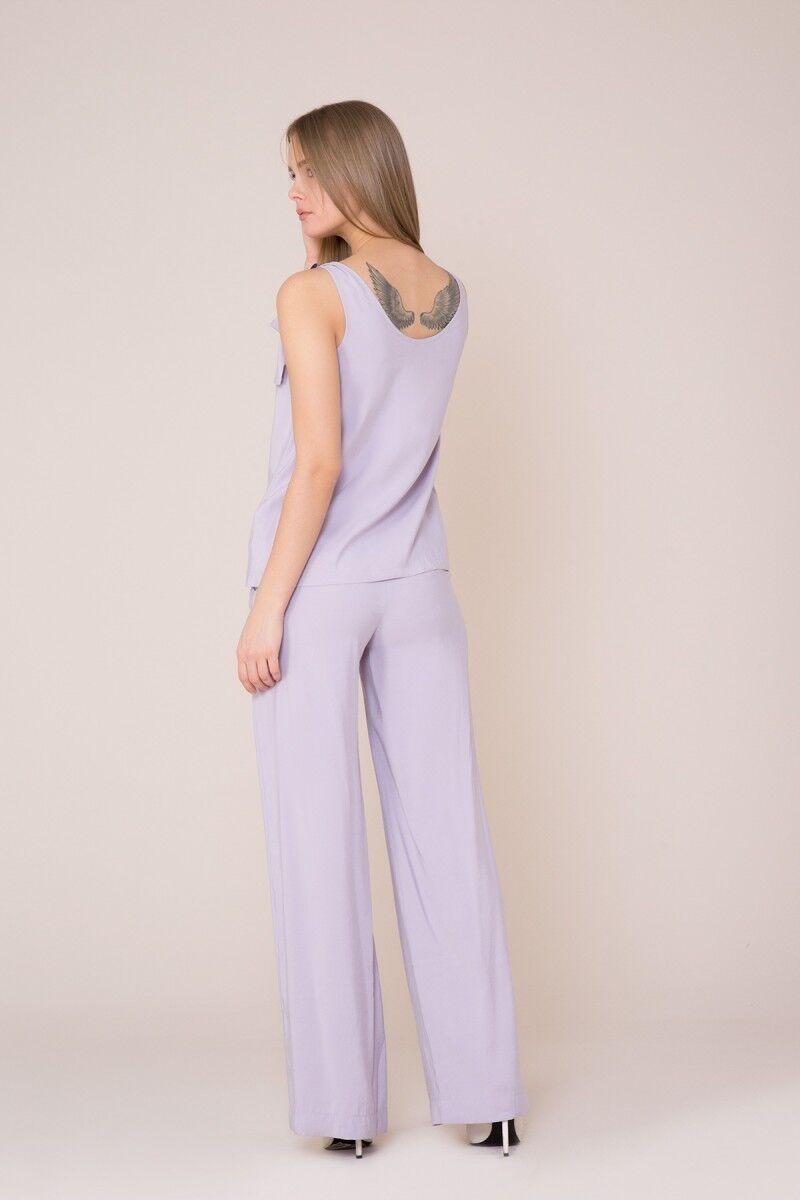 Fiyonk Askılı Lila Bluz