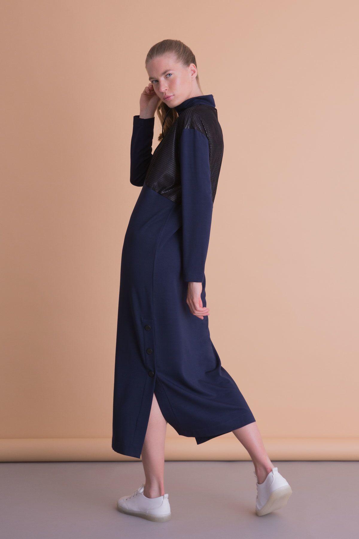 Garnili Lacivert Spor Elbise
