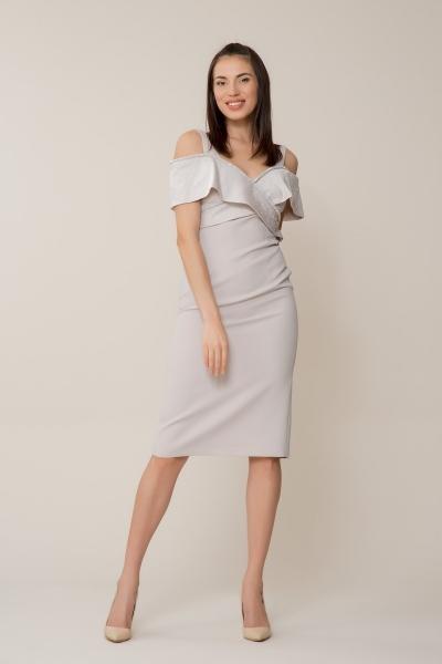 GIZIA - Gri Düşük Omuz Elbise