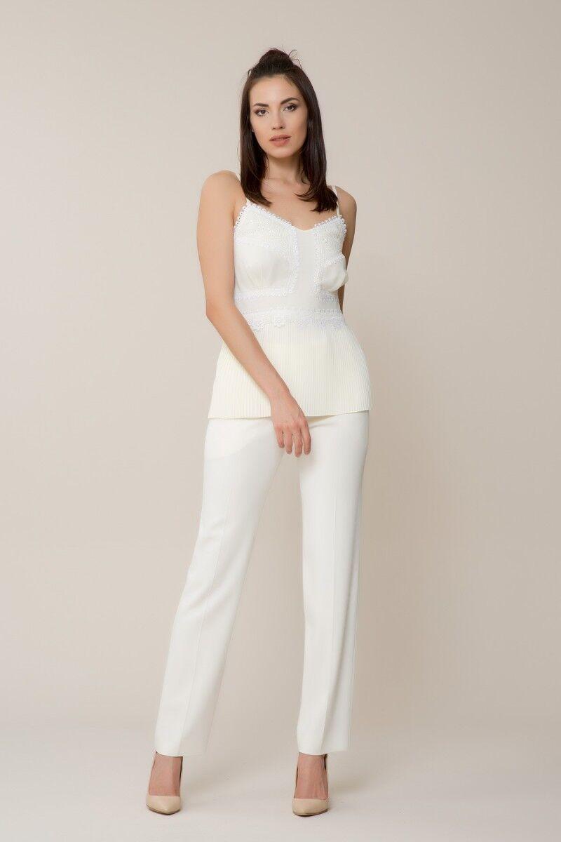 Güpür Detaylı Askılı Bluz