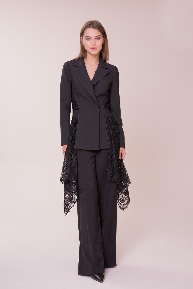 GIZIA - Güpür Detaylı Siyah Ceket
