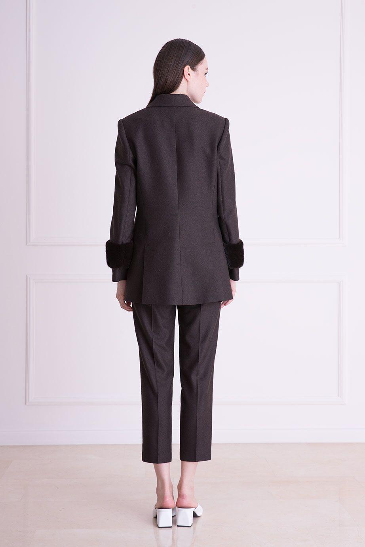 Havuç Kesim Bilek Boy Kahverengi Kumaş Pantolon