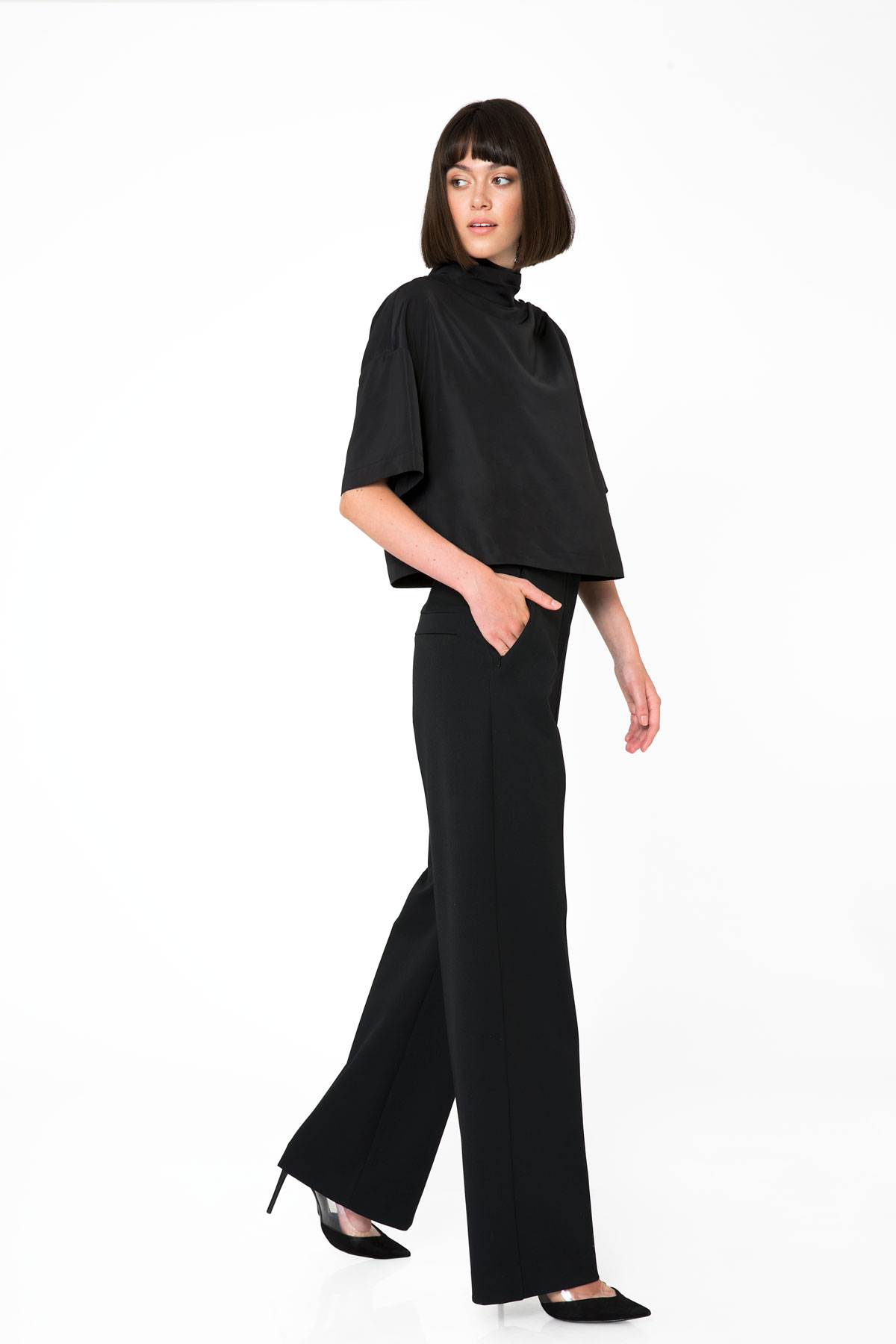 High Waist Black Trousers