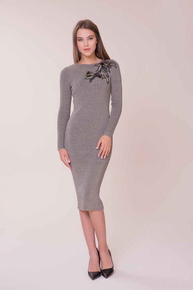 GIZIA - İşleme Detaylı Triko Elbise