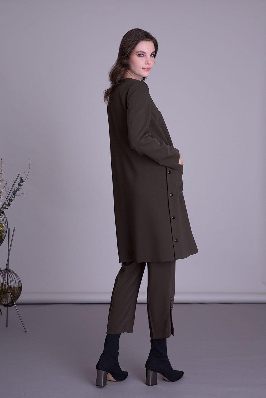 Kahverengi Uzun Ceket