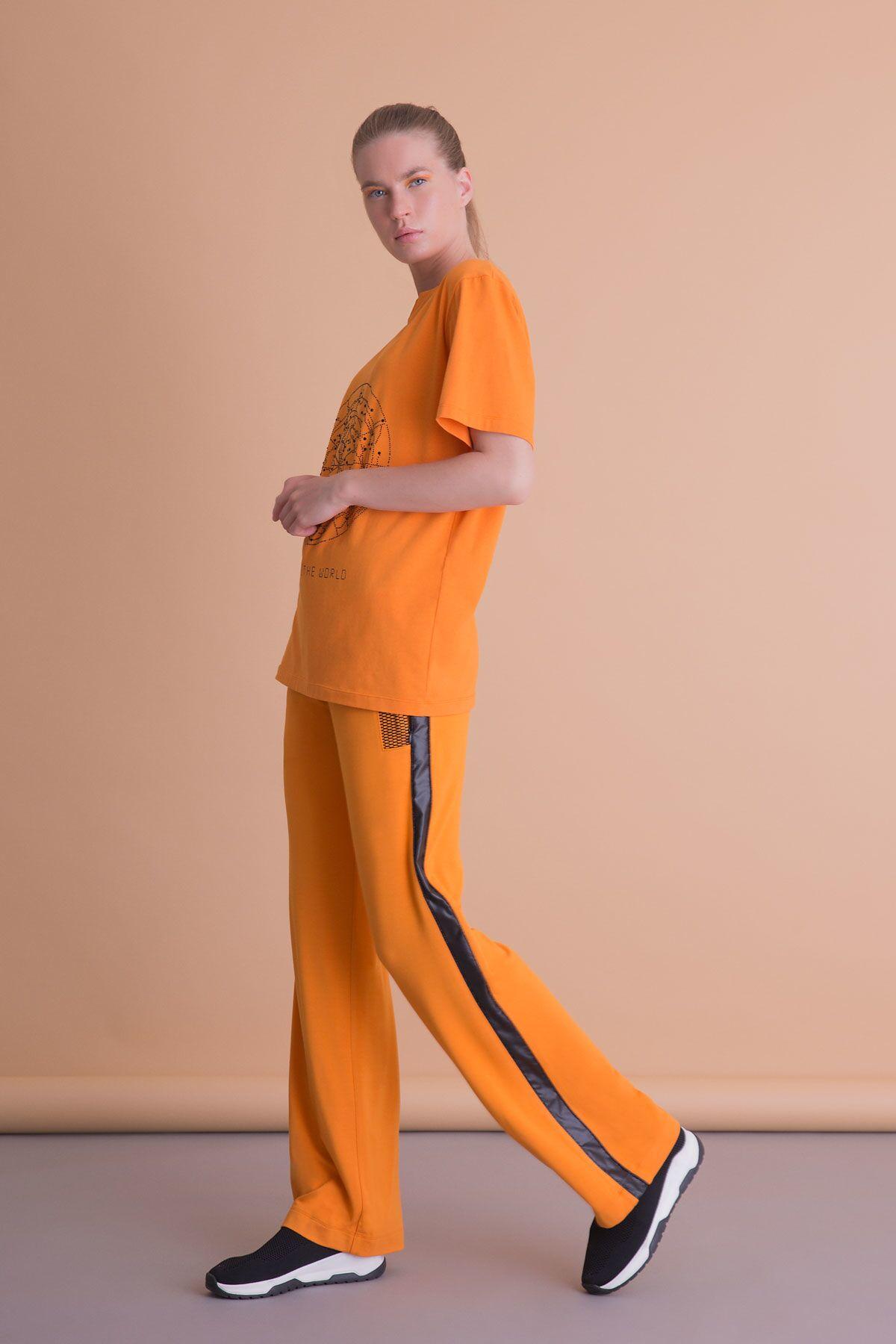 Kısa Kollu Turuncu T-Shirt