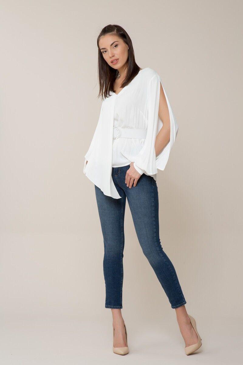 GIZIA - Kol Detaylı Beyaz Bluz
