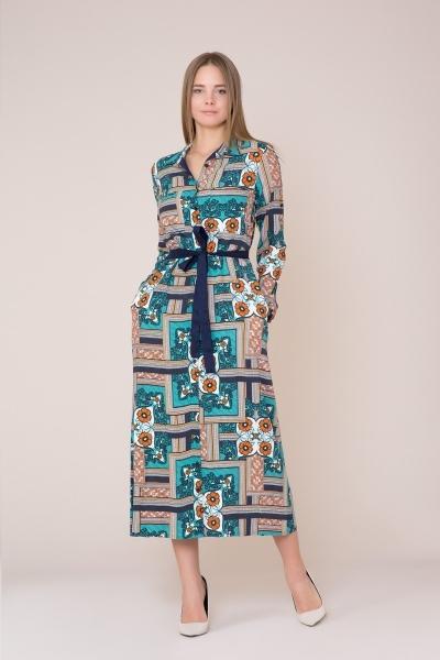 GIZIA CASUAL - Kuşak Detaylı Desenli Elbise