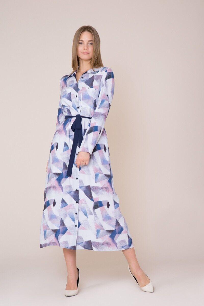 Kuşak Detaylı Lila Elbise