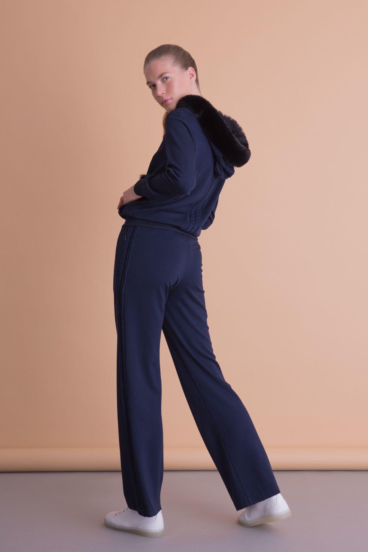 Lacivert Bol Paça Spor Pantolon