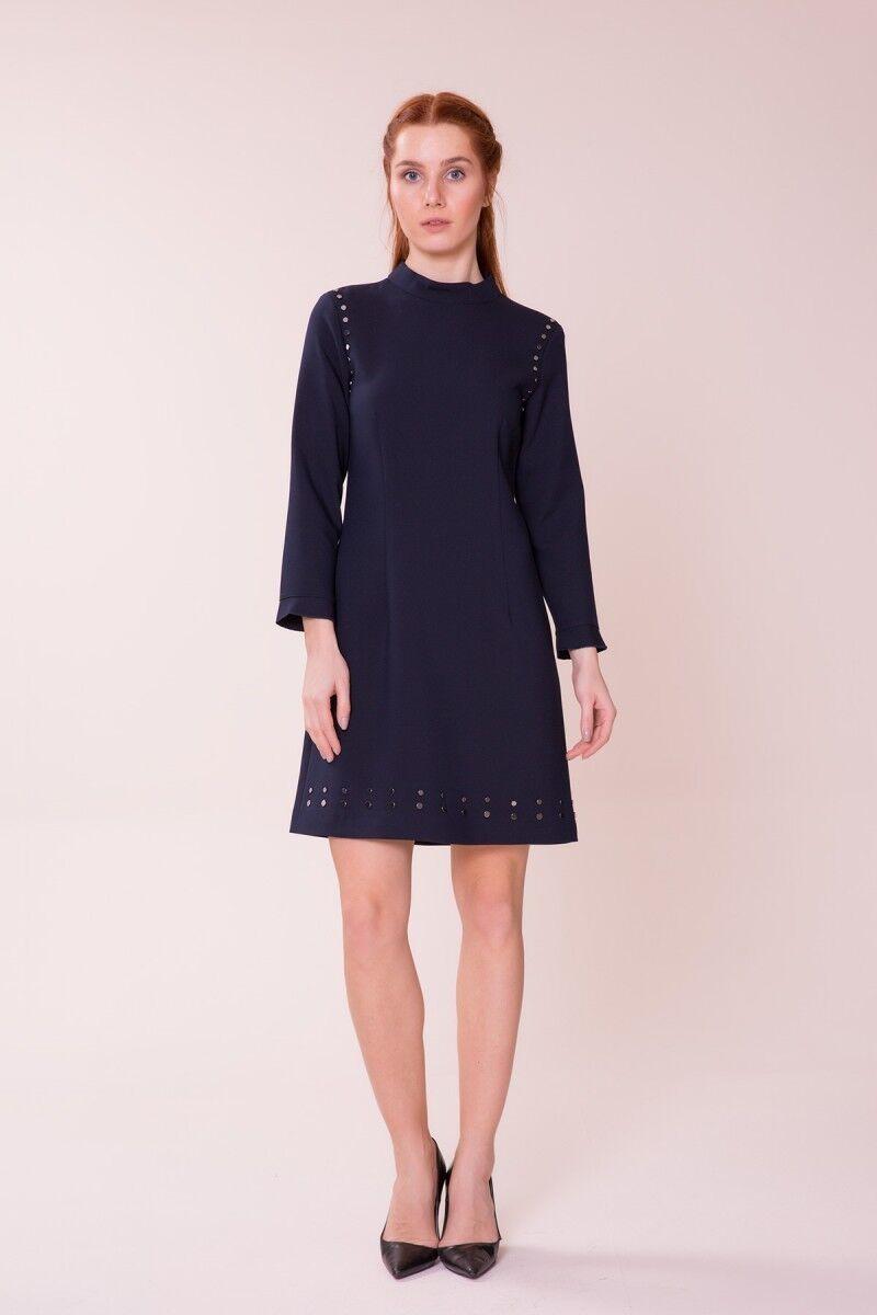 Lacivert Mini Elbise