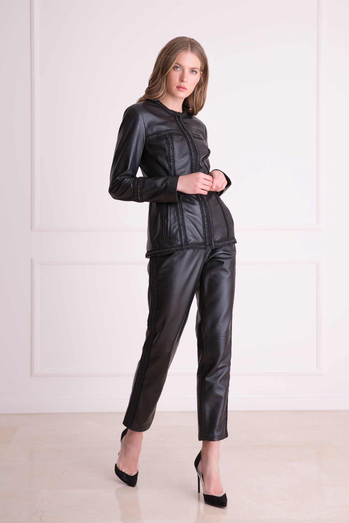Leather Black Trousers