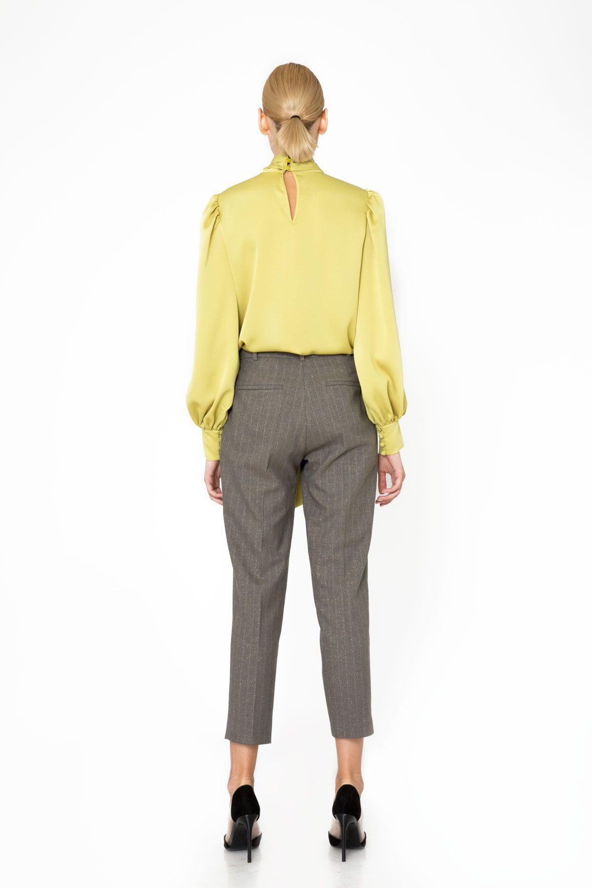 Çizgili Basic Havuç Kesim Pantolon
