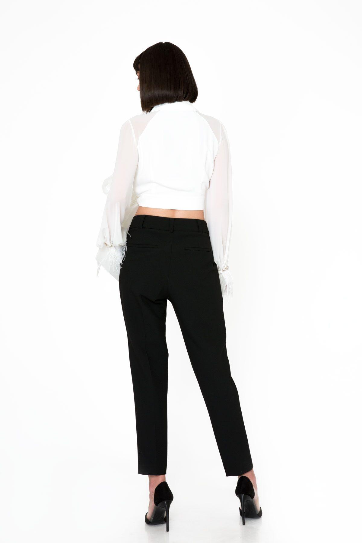 Cigarette Kesim Siyah Pantolon