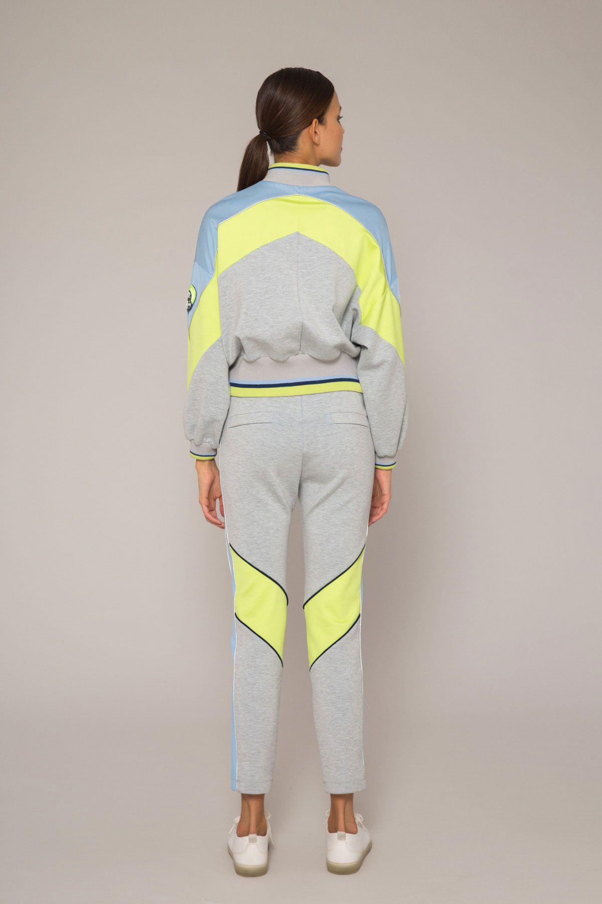 Yandan Şeritli Bant Detaylı Havuç Kesim Pantolon
