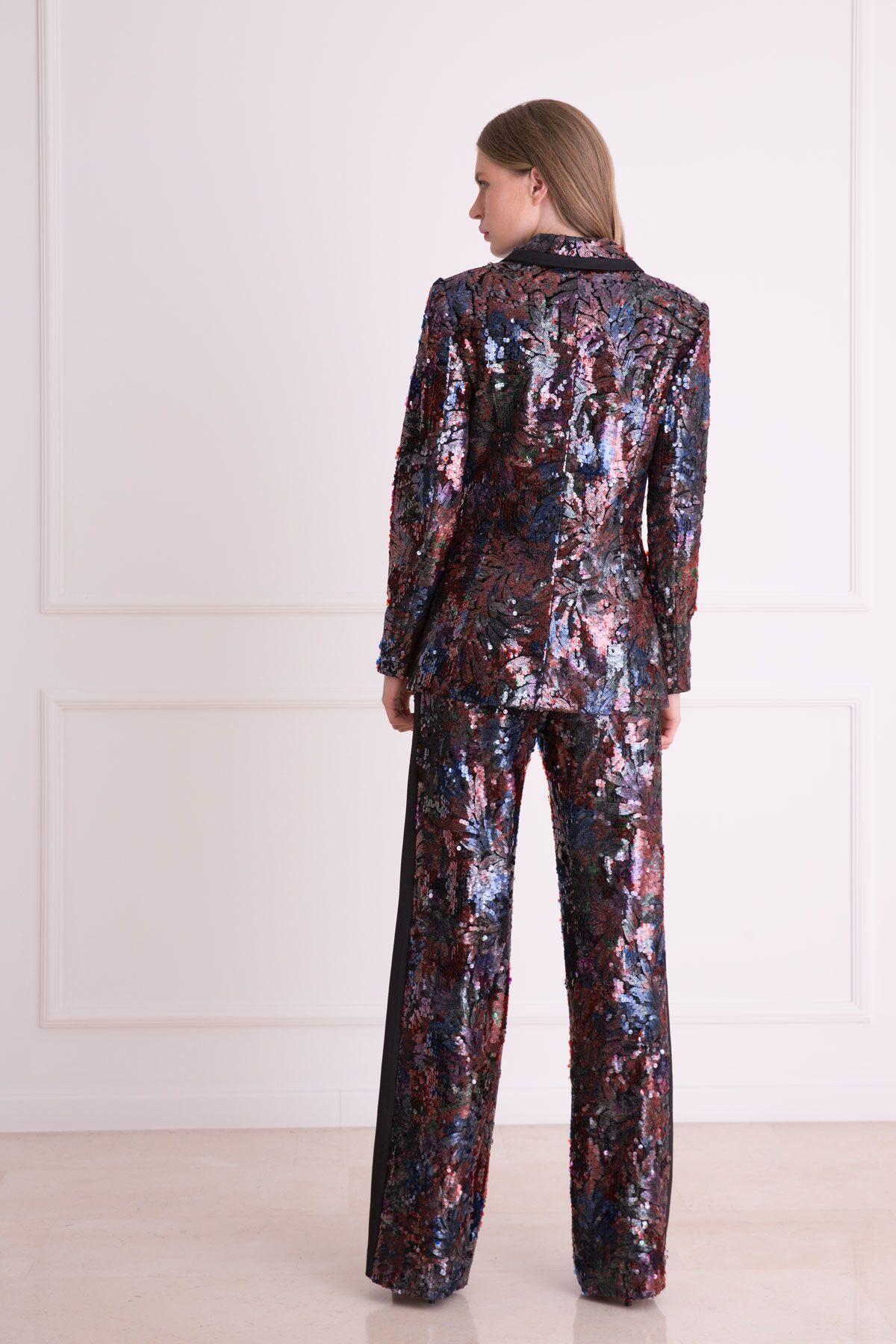 Pul Payet İşlemeli Ceket