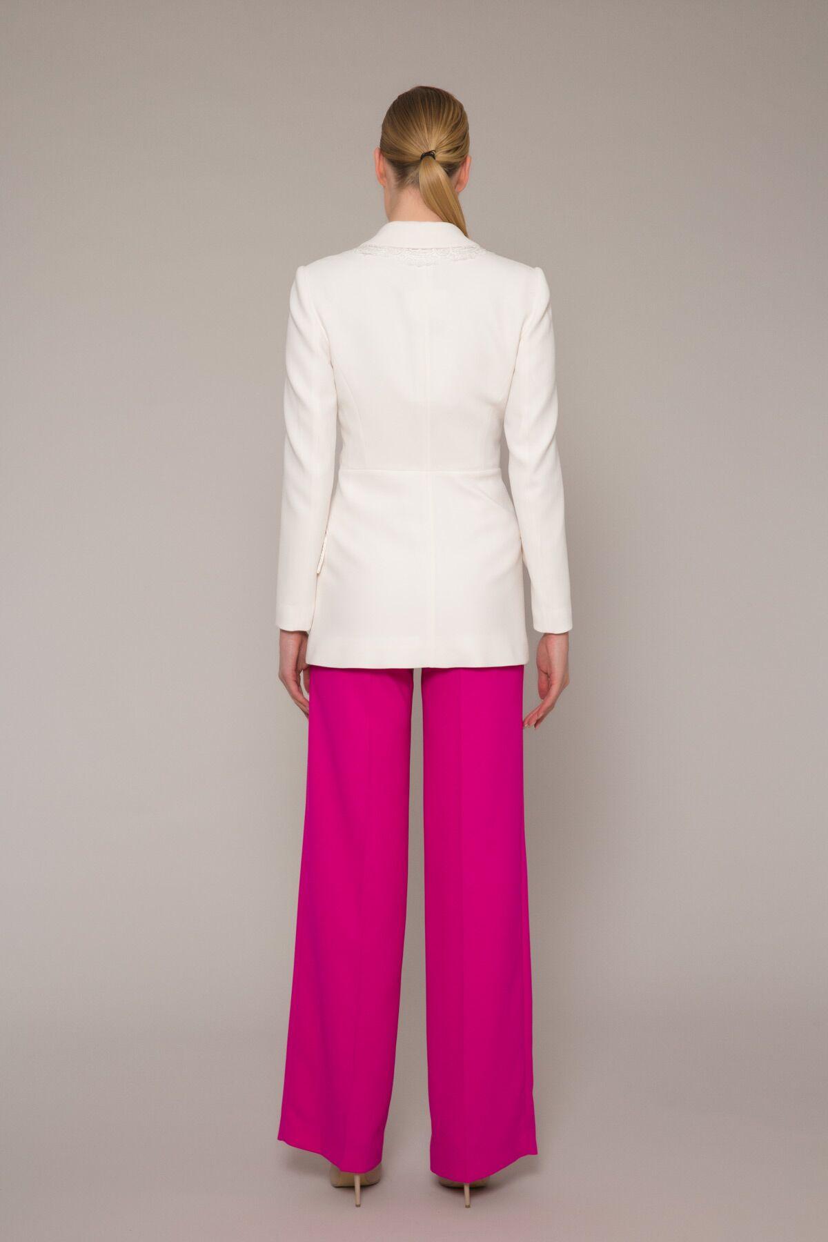 Payet Dantel Detaylı Şık Blazer Ceket