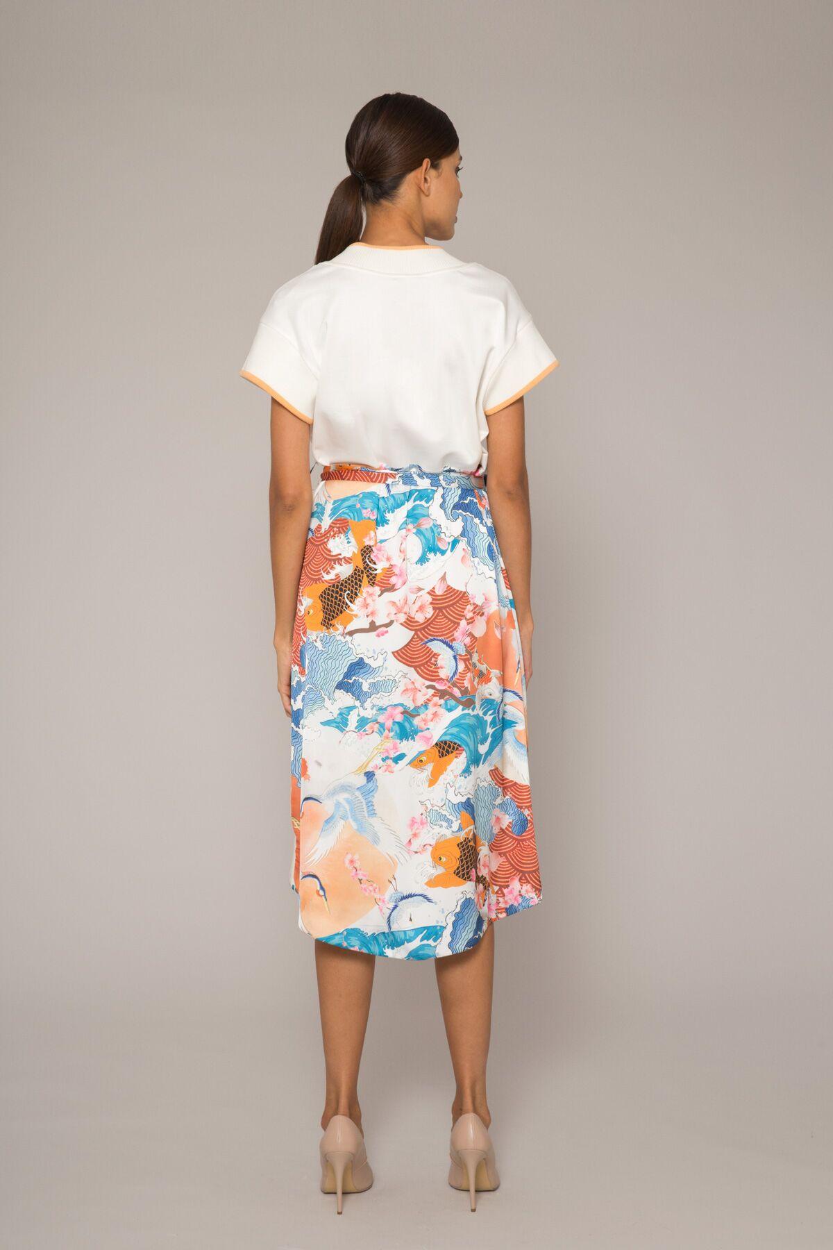 Triko Detaylı Kruvaze Elbise
