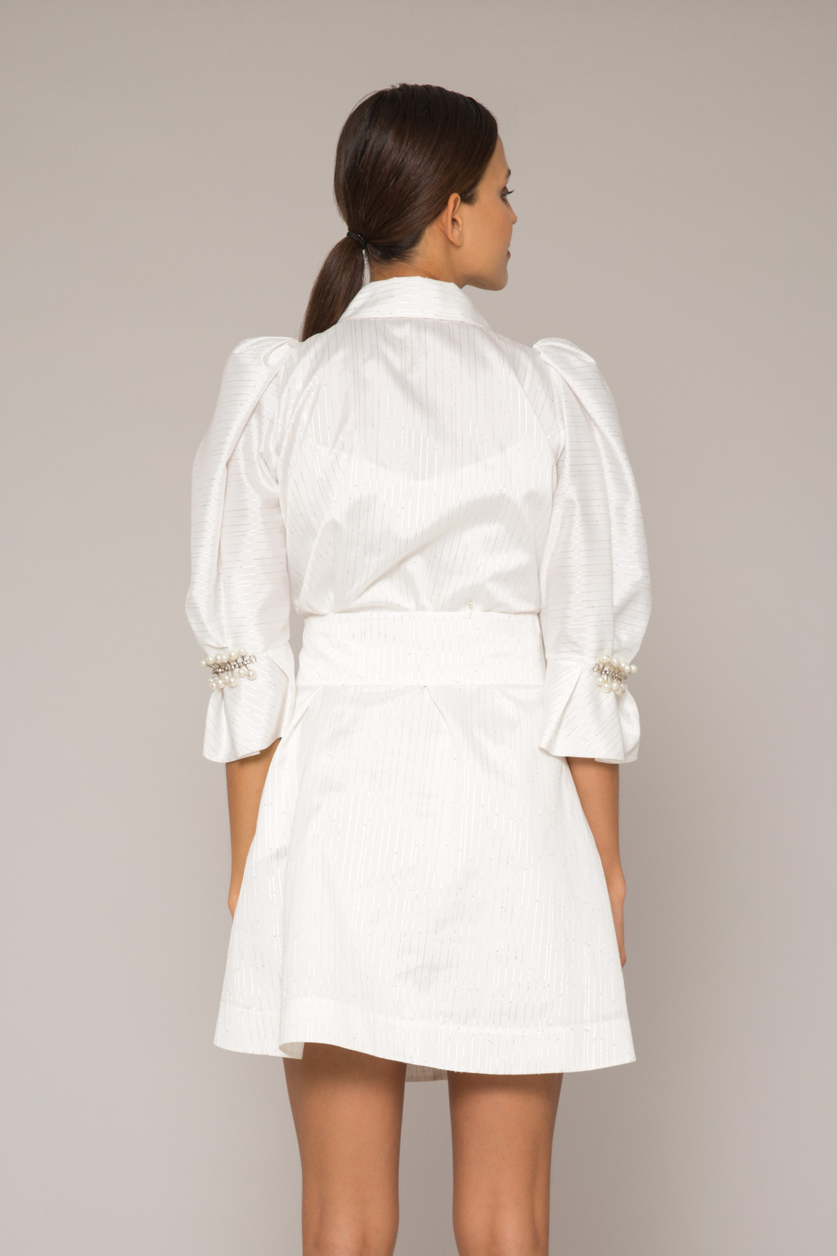 Taş İşleme Detaylı Gömlek Elbise
