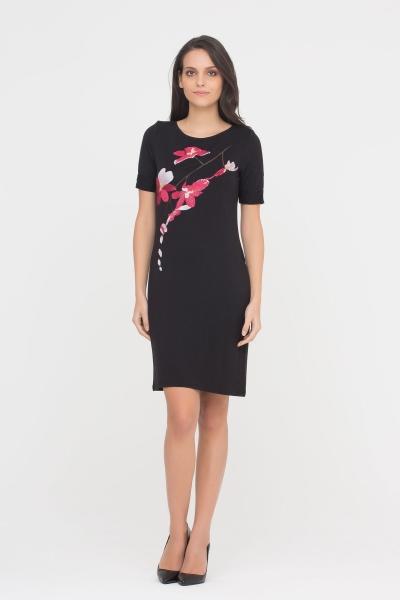 GIZIA CASUAL - Nakış Detaylı Siyah Elbise