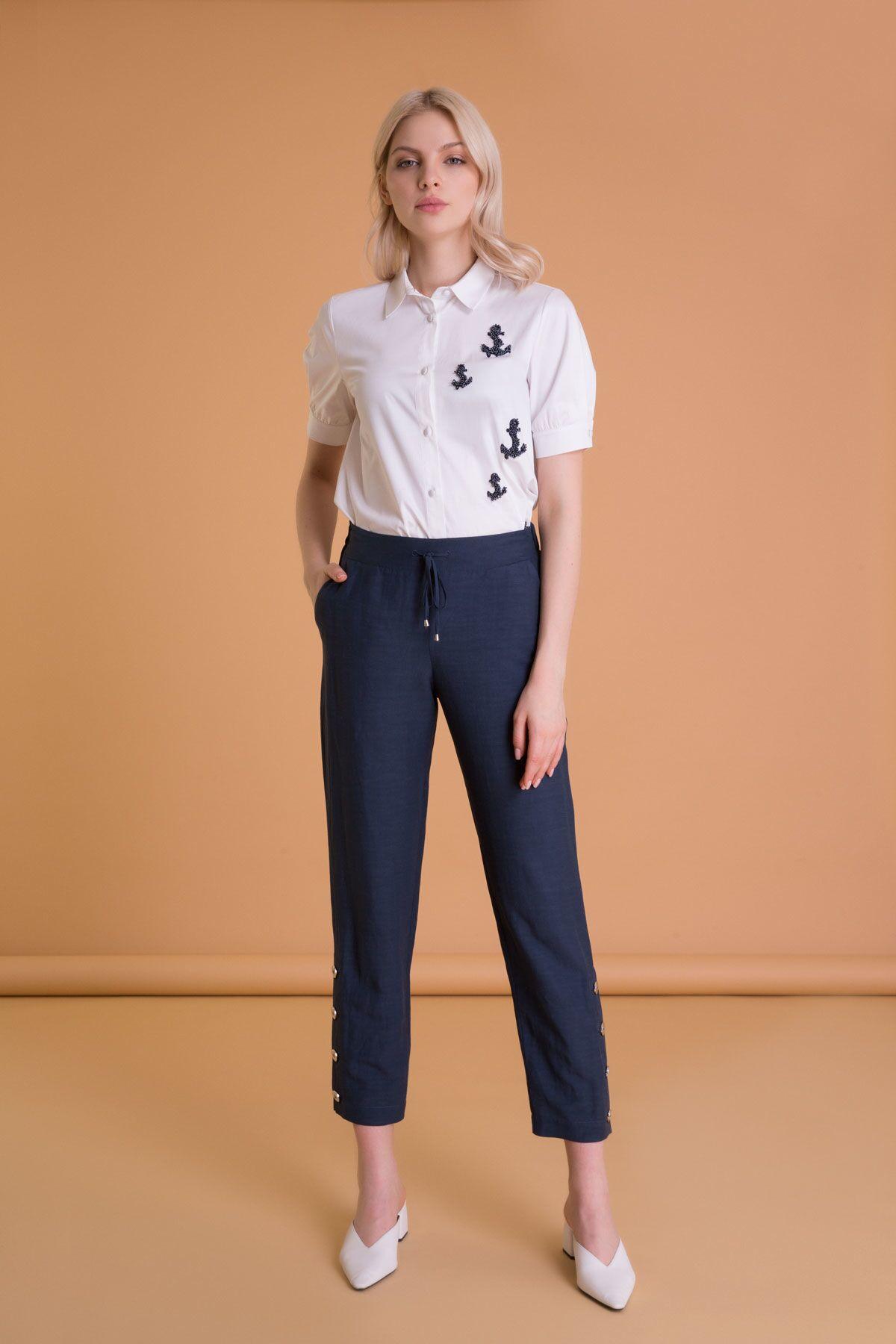 Navy Havuç Pantolon