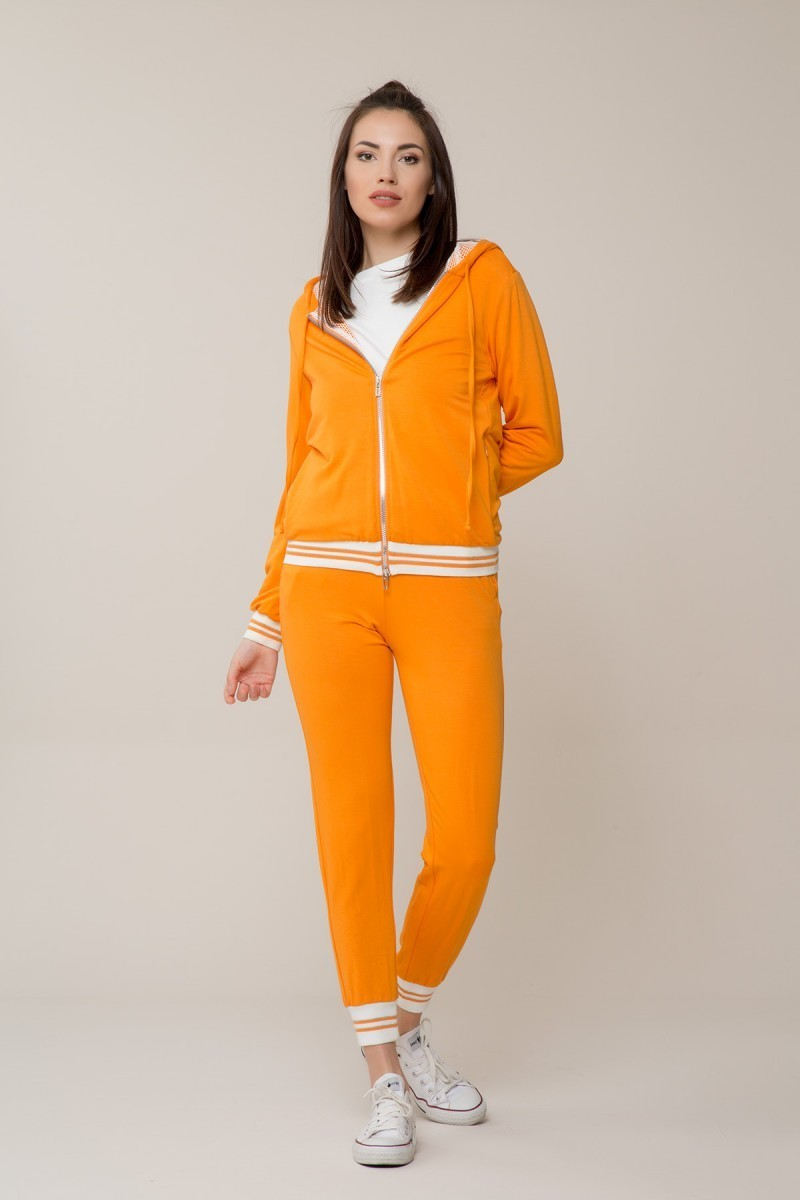 Orange Colored Sweatshirt