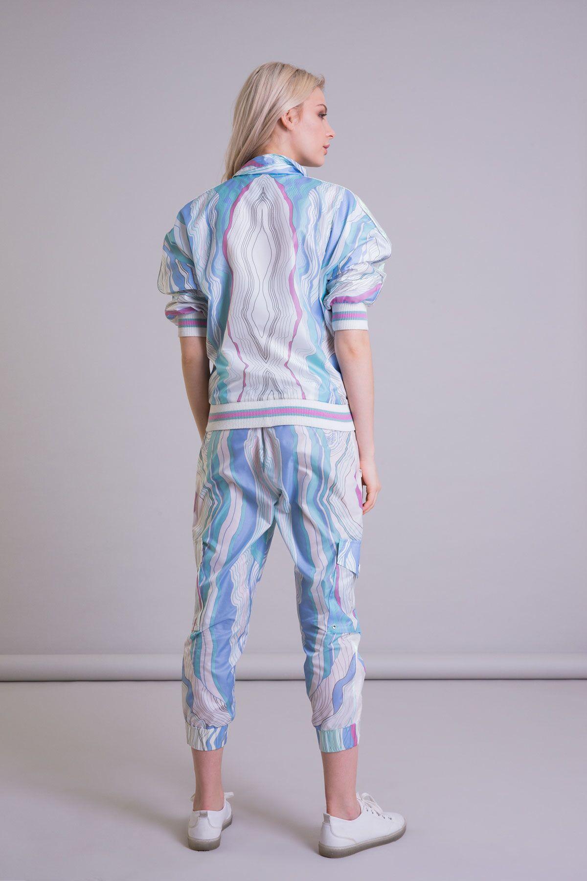Orijinal Desenli Teknik Kumaş Kargo Pantolon