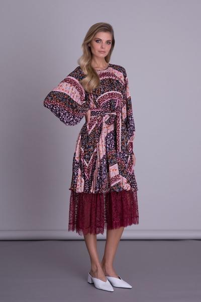 GIZIA CASUAL - Pile Detaylı Çiçek Desenli Elbise