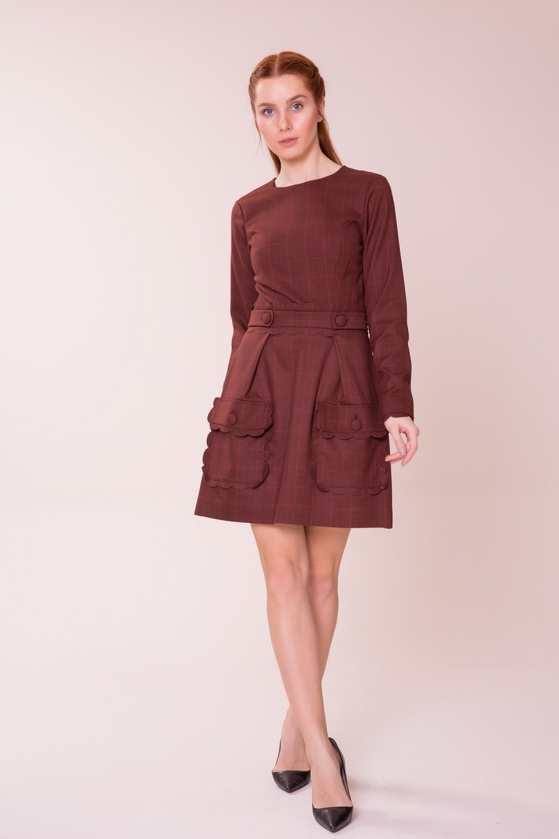 Pocket Detailed Mini Dress
