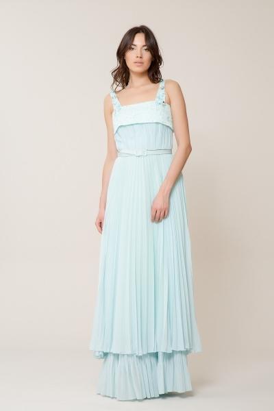 GIZIA - Pul Detaylı Uzun Elbise