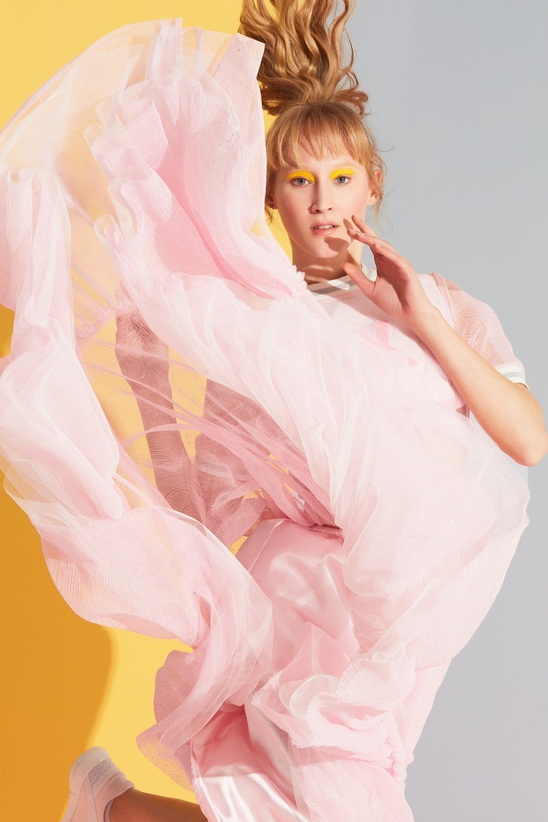 Ruffle Detailed Pink Skirt