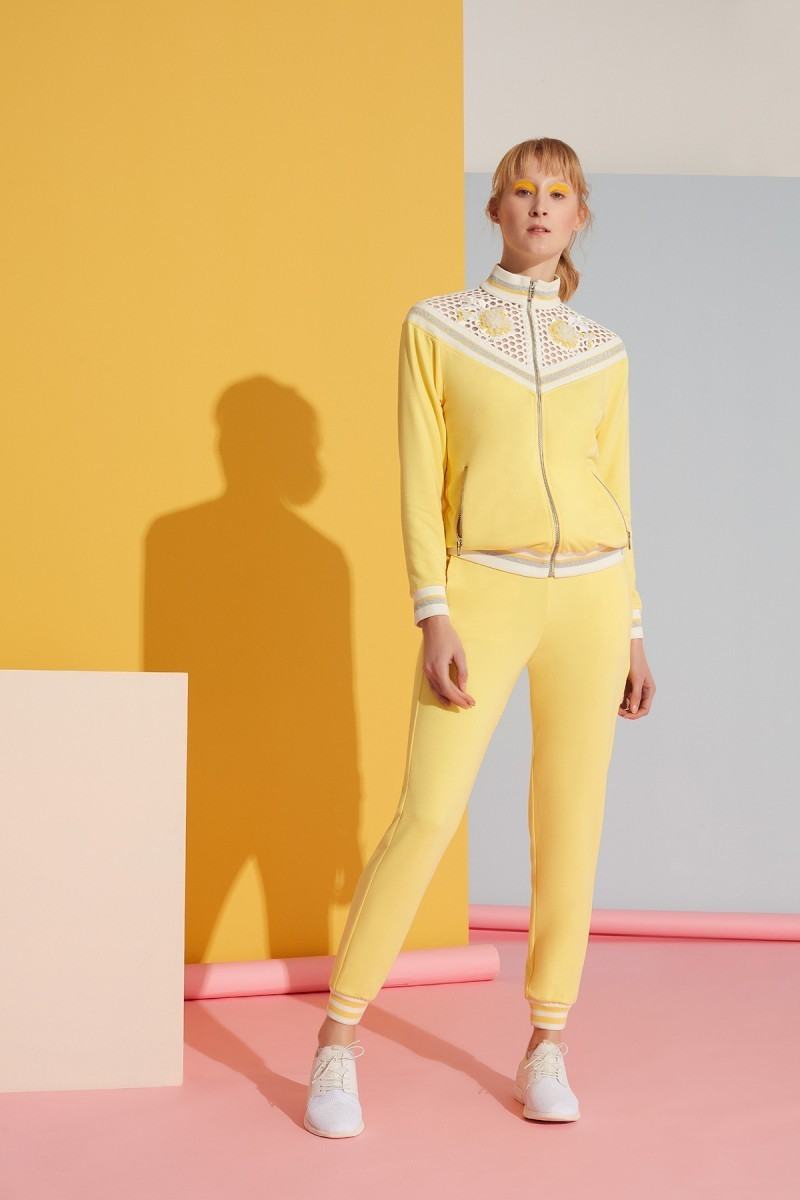 Sarı Spor Jogger Pantolon