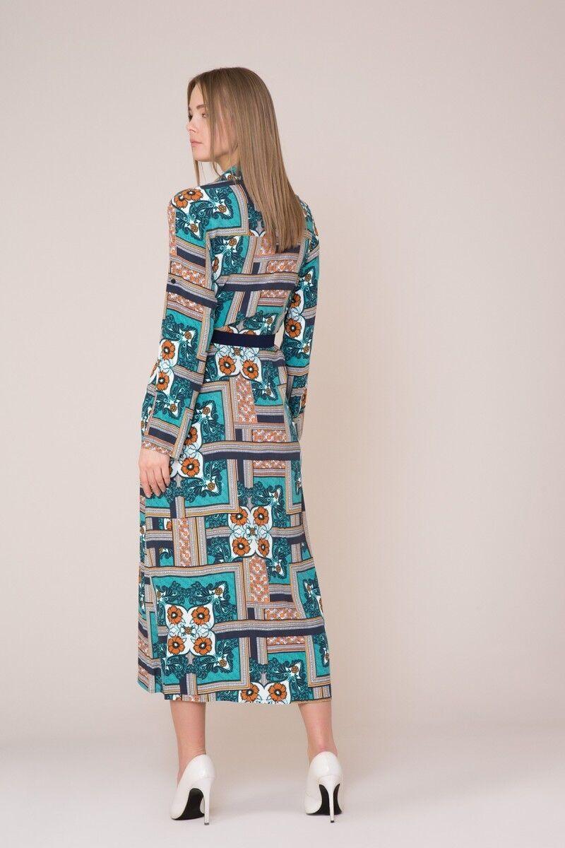 Sash Detailed Patterned Dress