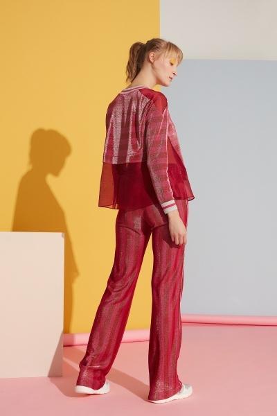 GIZIA SPORT - Şerit Detaylı Kırmızı Spor Pantolon