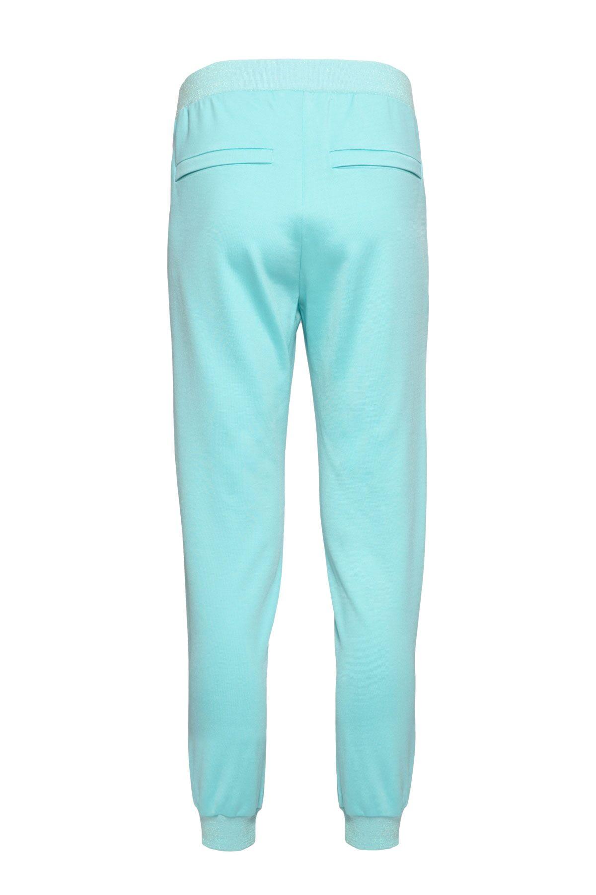 Şerit Detaylı Mint Jogger Pantolon