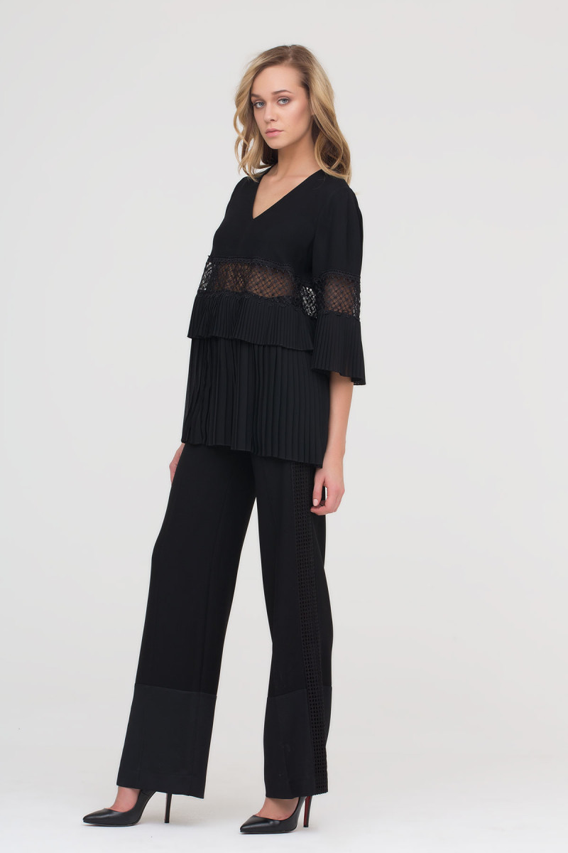 Side Lace Stripe Trousers