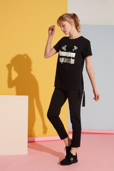 GIZIA SPORT - Siyah Pantolon