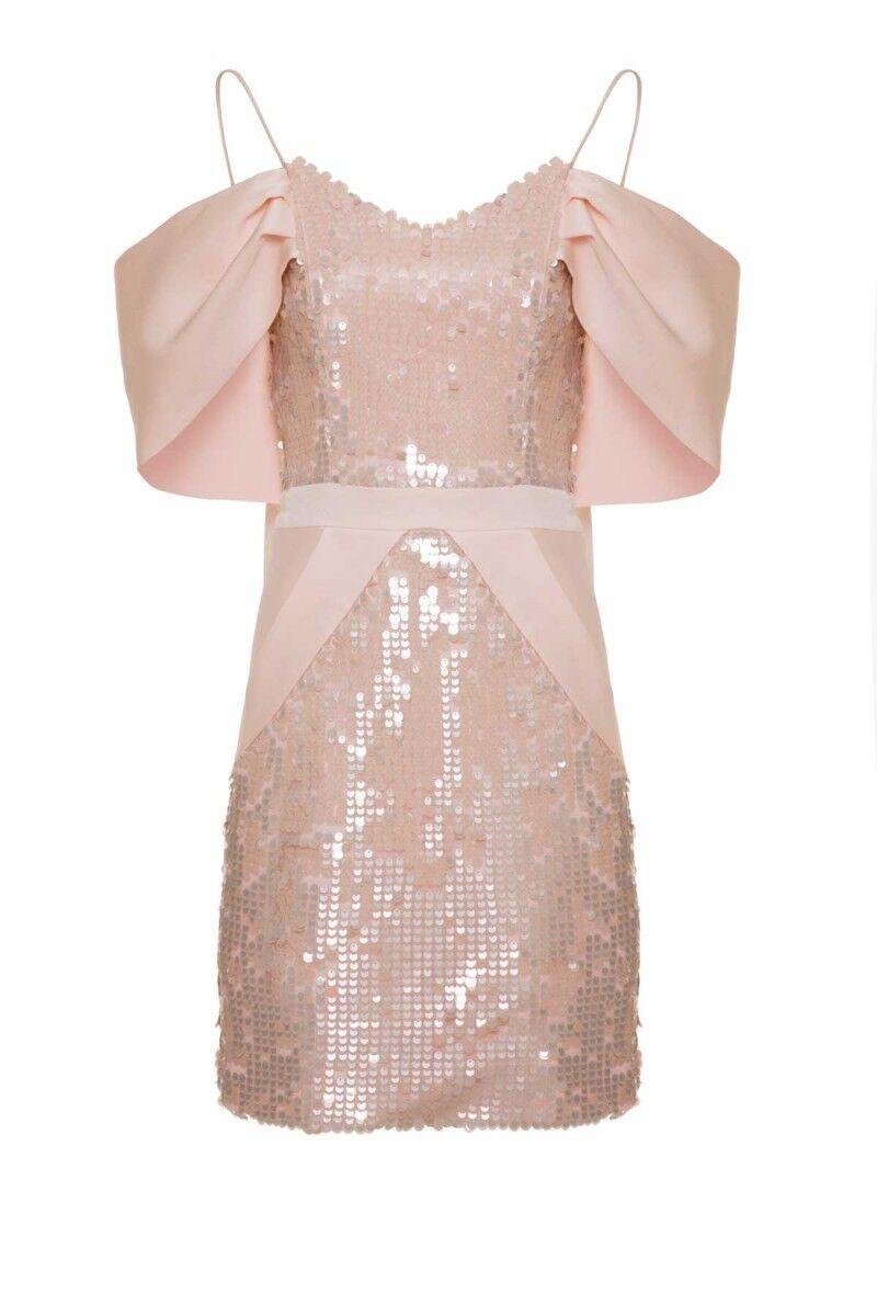 GIZIA - Somon Rengi Mini Elbise