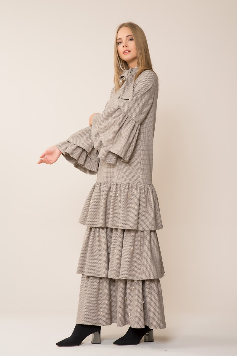 Sone Detailed Maxi Dress