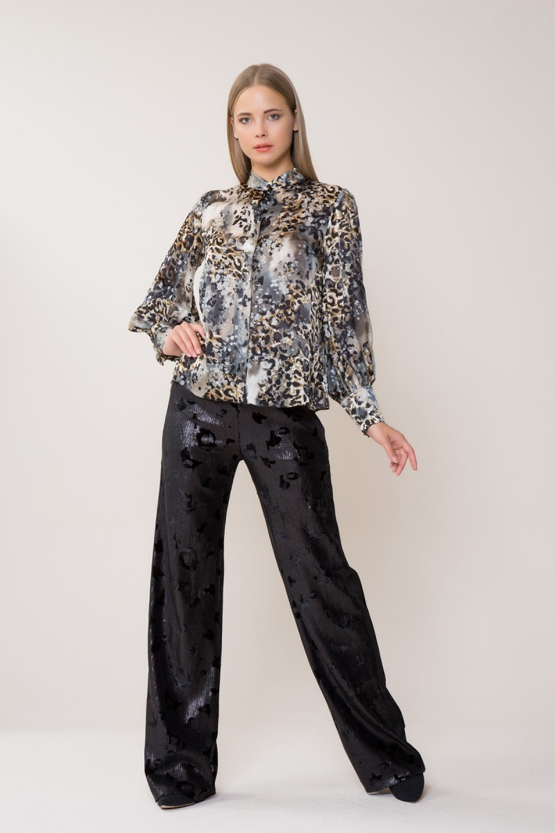 Stamped Sequin Trousers