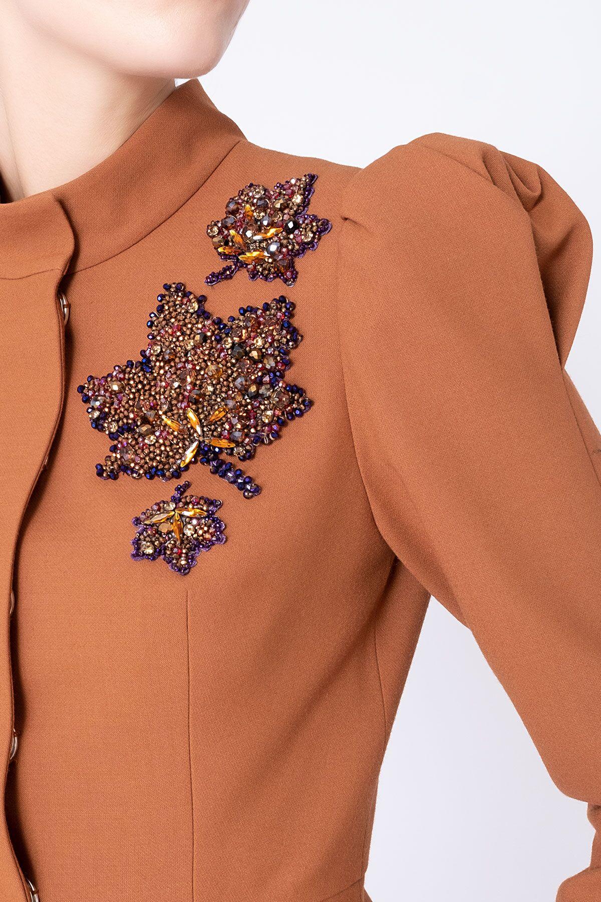 Stone Embroidery Detail Poplin Jacket