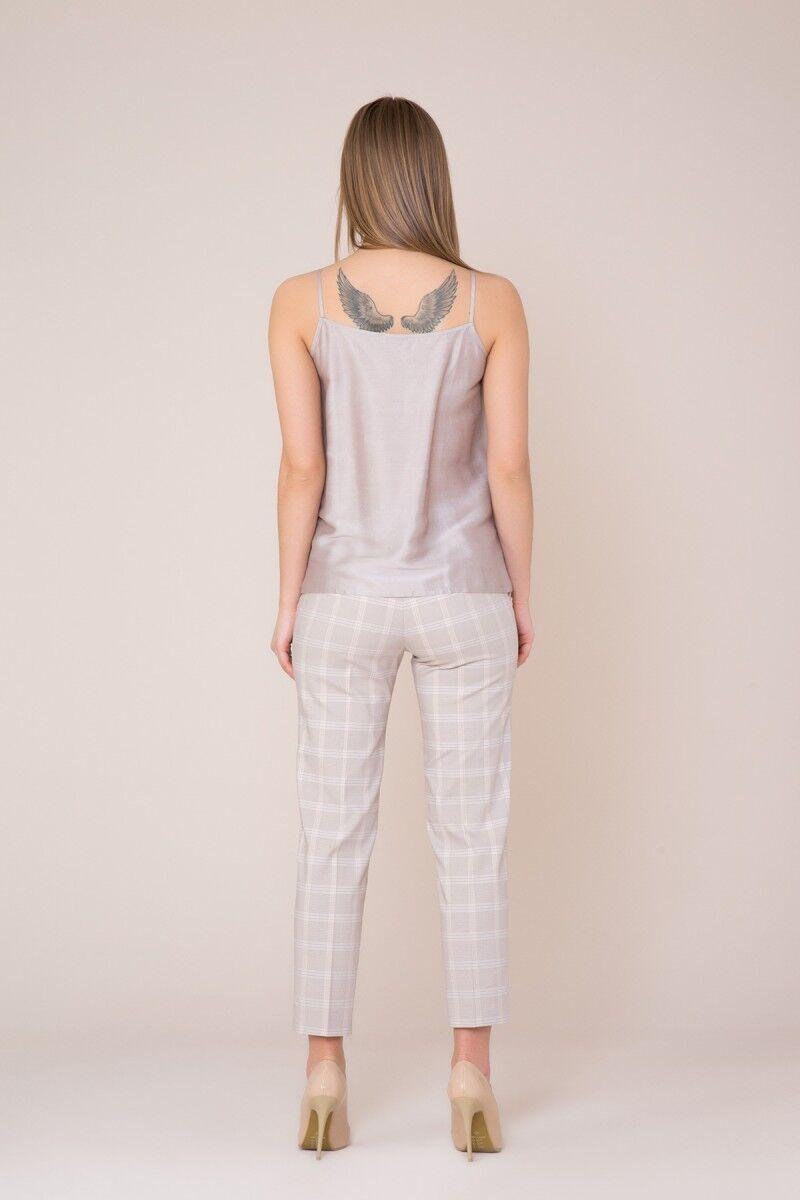 Taş Detaylı Askılı Bej Bluz
