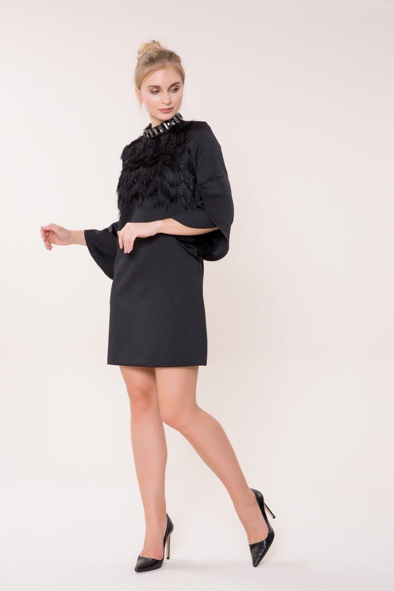 Taş Detaylı Mini Elbise