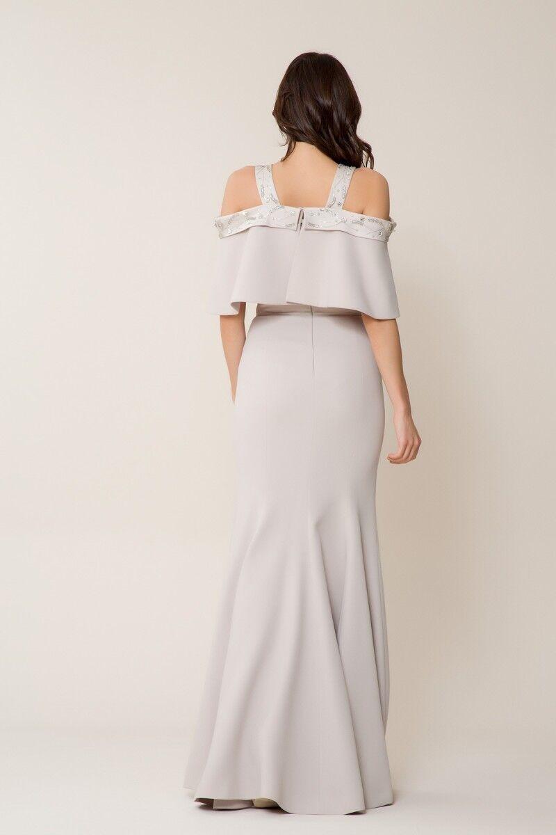 Taş Detaylı Uzun Elbise
