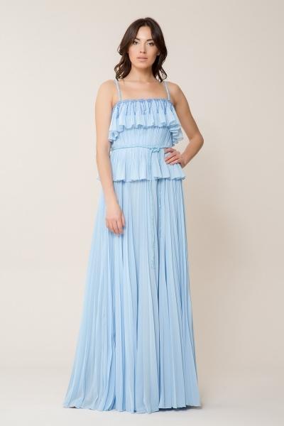 GIZIA - Taş Kemer Detaylı Bebek Mavi Uzun Elbise