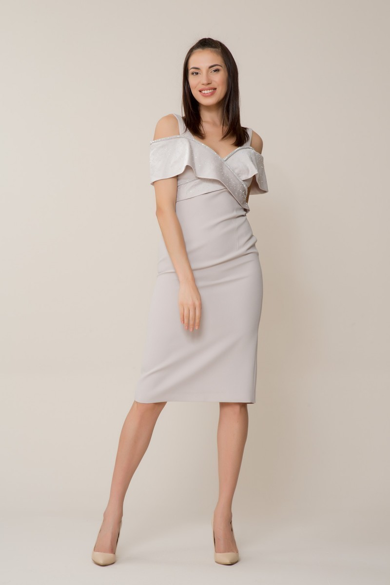 GIZIA - Taş Rengi Elbise
